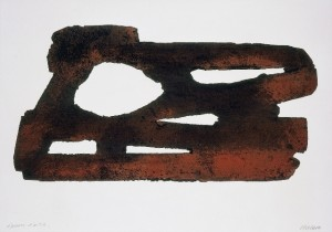 Pierre Soulages, Eau-forte XXVII, 1974, 1 cuivre, 53 x 76 cm - 35 x 69 cm, Collection particulière. Photo: F. Walch © ADAGP, Paris 2009